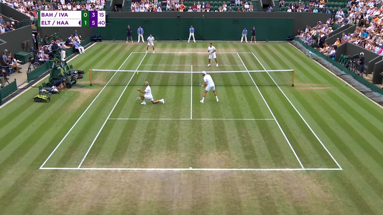 Le génie Mansour Bahrami a encore frappé à Wimbledon 2018.