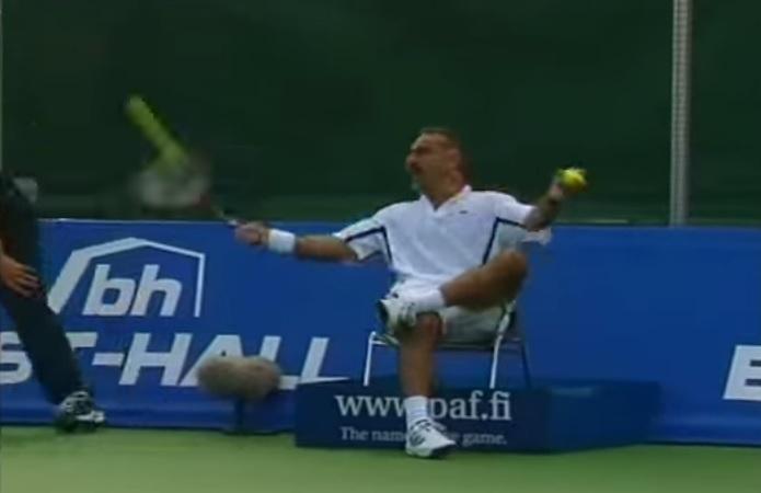 Mansour Bahrami est devenu une légende du tennis après sa carrière professionnelle.