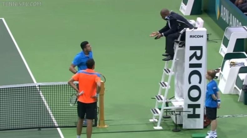 Un fait de jeu intéressant sur une balle de match entre Marin Cilic et Jo-Wilfried Tsonga à Rotterdam.