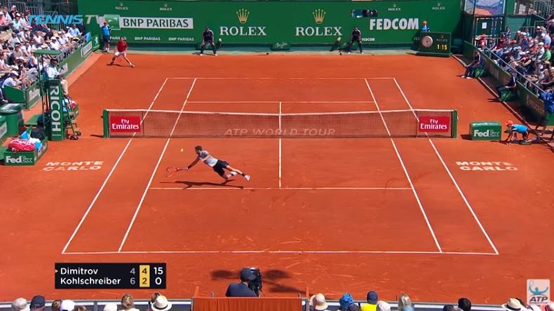 Masters Monte-Carlo 2018 : Grigor Dimitrov s'échauffe pour la saison sur gazon.