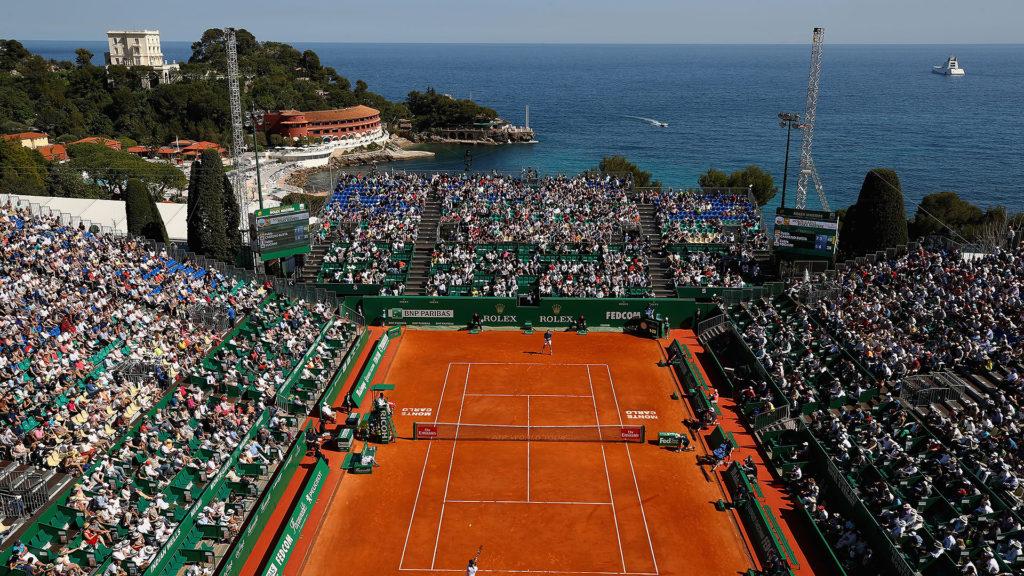 Tennis avec vue au Masters de Monte-Carlo.