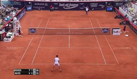Un point énorme de Leonardo Mayer contre David Ferrer en finale du tournoi de Hambourg 2014.