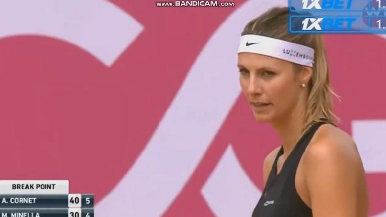 Mandy Minella n'a pas aimé les cris d'Alizé Cornet en finale du tournoi de Gstaad 2018.