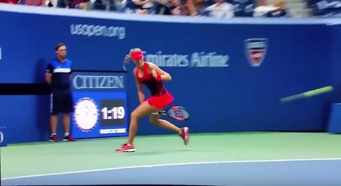 Le tweener de Kristina Mladenovic à l'US Open 2015.
