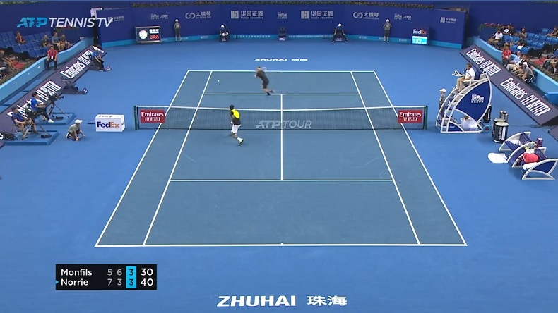 Un point magistral de Monfils contre Norrie au tournoi de Zhuhai 2019.