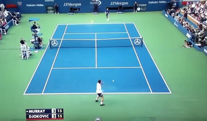 Un rallye de 54 frappes dans des conditions dantesques en finale de l'US Open 2012 entre Andy Murray et Novak Djokovic.