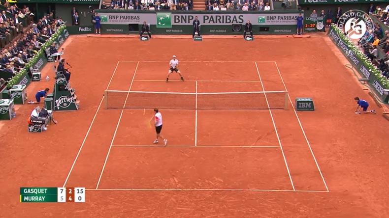 Quel point entre Andy Murray et Richard Gasquet à Roland-Garros 2016.
