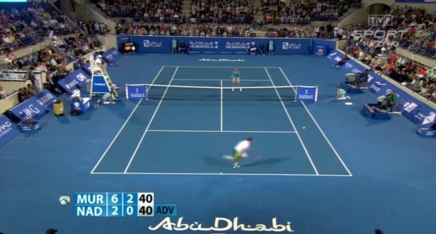 A l'image de cette défense, Andy Murray est apparu particulièrement affûté contre Rafael Nadal à Abu Dhabi.