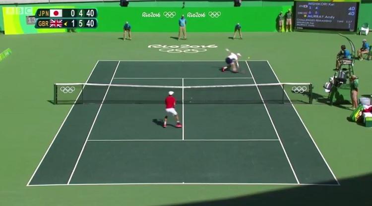 Un rallye de dingue entre Andy Murray et Kei Nishikori.