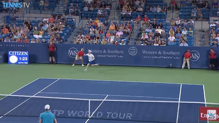 Andy Murray est impressionnant en défense.