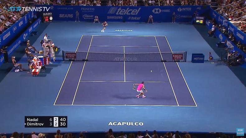 Un score sévère mais un match de très grande qualité entre Nadal et Dimitrov à Acapulco.