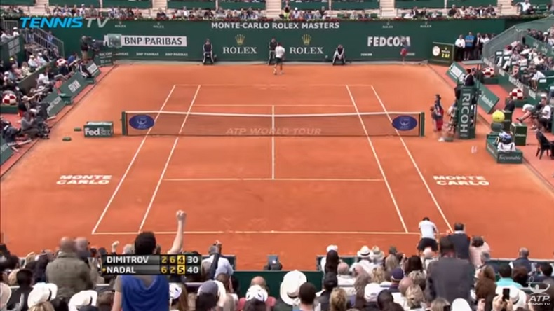 Nadal - Dimitrov, Monte-Carlo 2013 : attention, points de dingue.