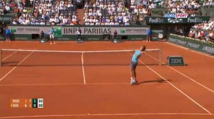 """Les """"hot shots"""" de la finale de Roland Garros 2014 entre Rafael Nadal et Novak Djokovic."""