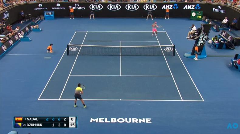 Rafa Nadal a détruit Damir Dzumhur à l'Open d'Australie 2018.