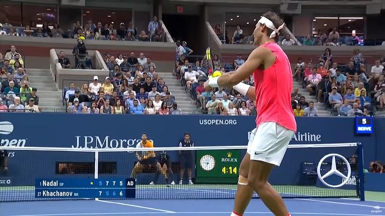 Rafal Nadal et Karen Khachanov ont joué un match de dingue à l'US Open 2018.