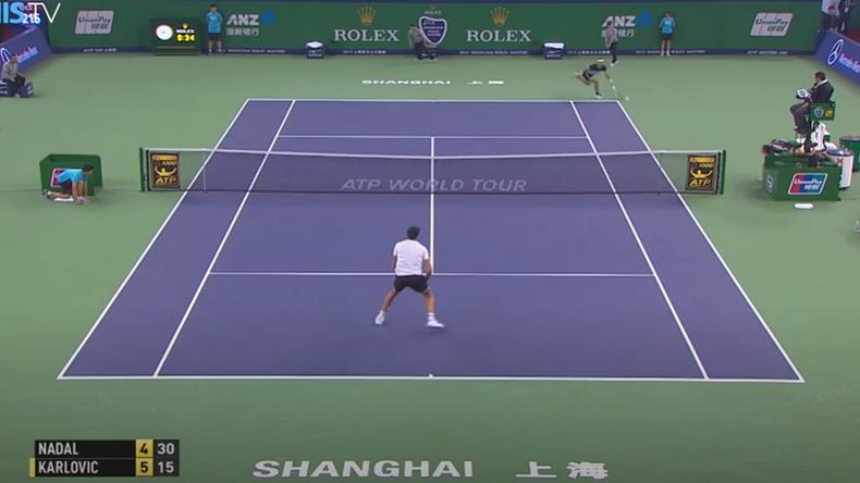 En 2015, à Shanghai, Rafael Nadal avait enclenché le God Mode en breakant Karlovic sur trois retours gagnants monstrueux.