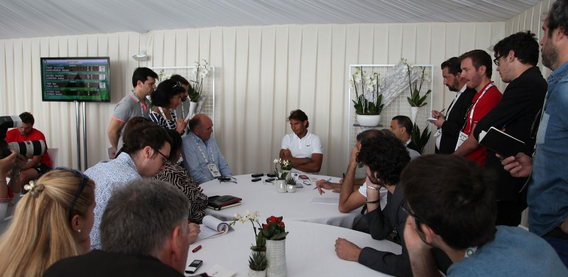 La table ronde avec Rafael Nadal lors du Media Day.