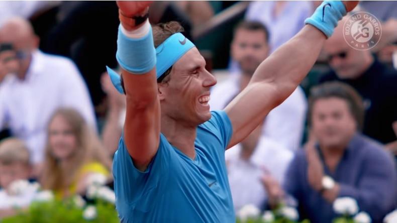 La joie de Nadal pour son 11e titre à Roland-Garros.