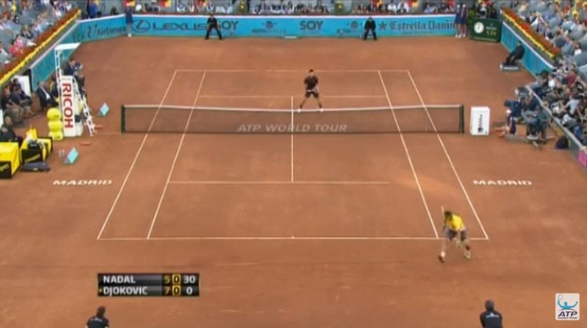 Nadal : un tweener de légende contre Djokovic à Madrid.