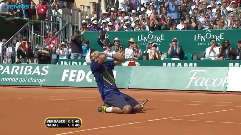 Nadal - Verdasco : Nando remporte un point de légende en finale du Masters de Monte-Carlo.