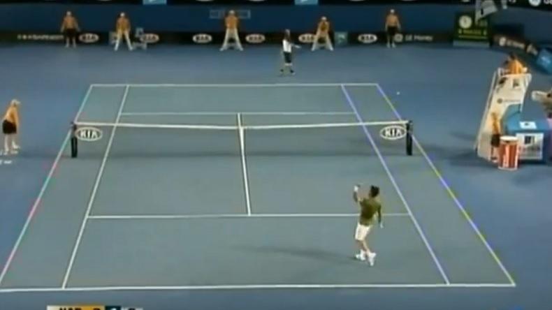 Trois points absolument incroyables entre Nadal et Verdasco en demi-finales de l'Open d'Australie 2009.