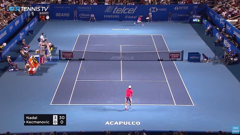 Rafael Nadal a envoyé des coups droits légendaires contre Kecmanovic à Acapulco.