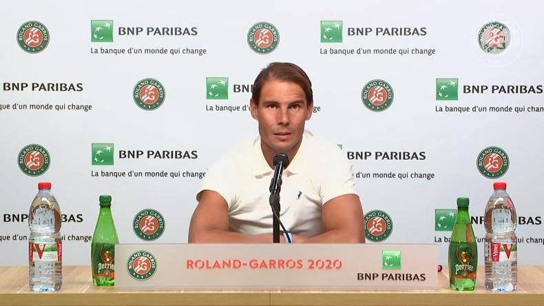 Le discours de champion de Rafa Nadal, à Roland-Garros 2020.