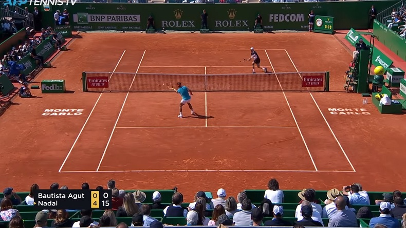 Rafa Nadal a donné une leçon à Roberto Bautista Agut à Monte-Carlo.