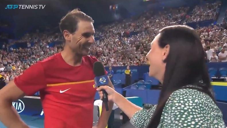 Rafa Nadal a réagi avec humour au fait qu'il est le premier joueur à être n°1 mondial sur trois décennies.