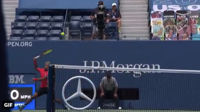 Le banana shot de Nagal à l'US Open !