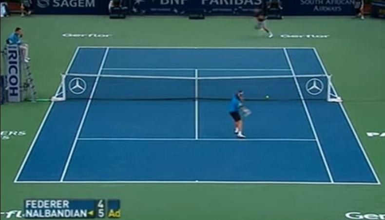 Un niveau de jeu de dingue entre Nalbandian et Federer au Masters de Paris-Bercy 2007.