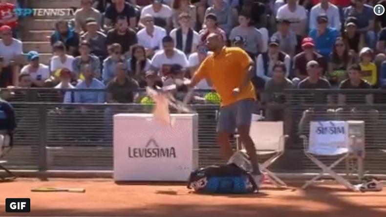 Nick Kyrgios a perdu au deuxième tour du Masters de Rome 2019 sur disqualification.