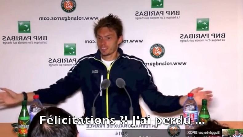 La boulette d'un journaliste après la défaite de Nicolas Mahut au premier tour de Roland Garros 2014.