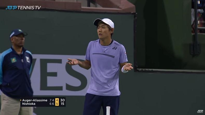 Yoshihito Nishioka menait 5/1, balle de match, au troisième contre Felix Auger-Aliassime à Indian Wells. Il a finalement gagné au tie-break.