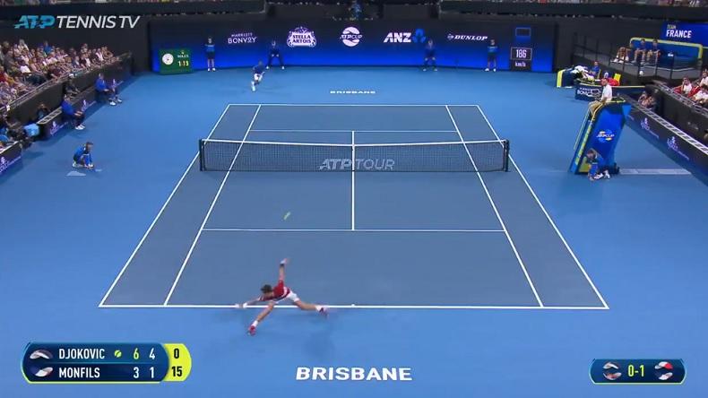 Difficile à croire, mais Novak Djokovic est en train de mettre un coup gagnant là.