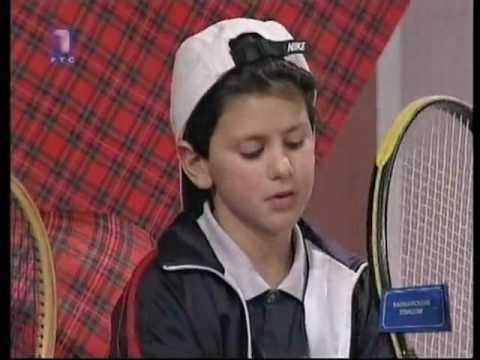 Novak Djokovic dans sa jeunesse.