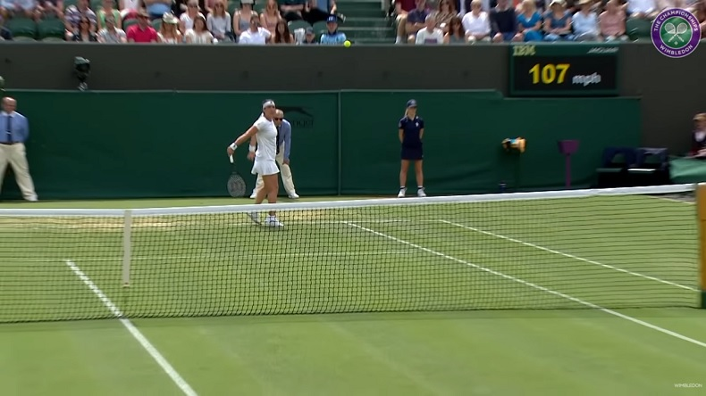 Les amorties d'Ons Jabeur à Wimbledon 2021.