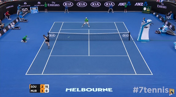 Andy Murray est incroyable en défense.