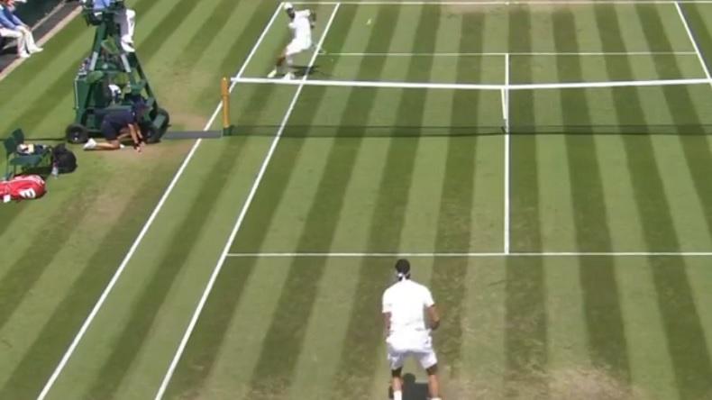 Un point amusant entre Benoît Paire et Juan Martin Del Potro à Wimbledon.