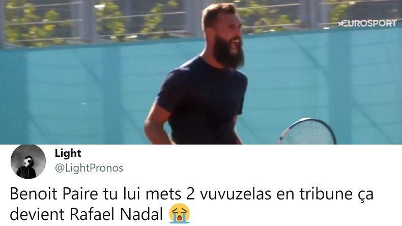 Les pépites des réseaux après la victoire de Benoît Paire au premier tour du Masters de Madrid 2021.