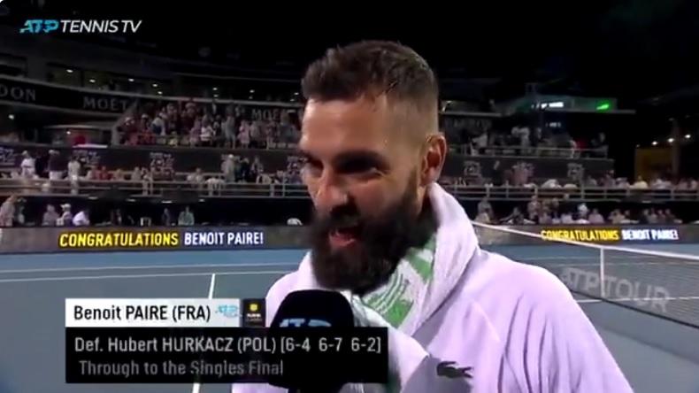 Les insultes à un moment du match, puis les excuses et l'humour à la fin. Bref, du grand Benoît Paire en demi-finales du tournoi d'Auckland 2020.