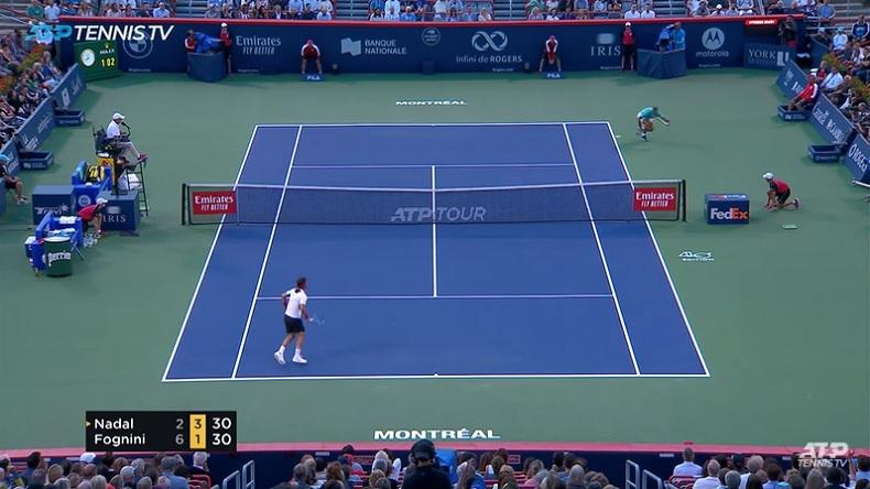 Un des points de l'année entre Nadal et Fognini à Montréal.