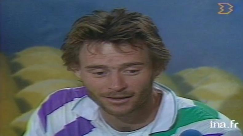 En 1989, Jérôme Potier avait fait une analyse d'après-match légendaire en compagnie de Nelson Monfort, après une défaite au troisième tour à Roland.