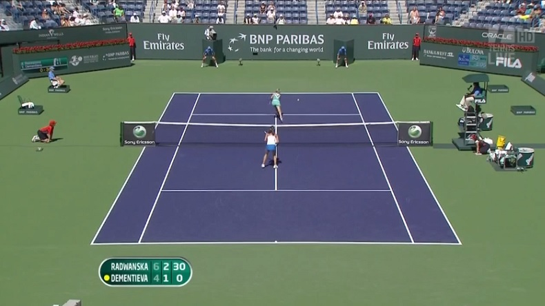 Radwanska et Dementieva ont joué un point monstrueux à Indian Wells en 2010.