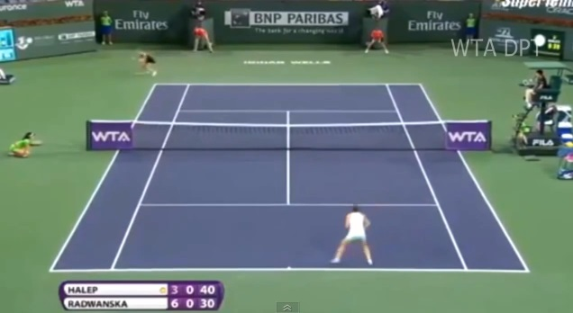 Simona Halep est tombée face un mur en demi-finales du tournoi d'Indian Wells 2014.