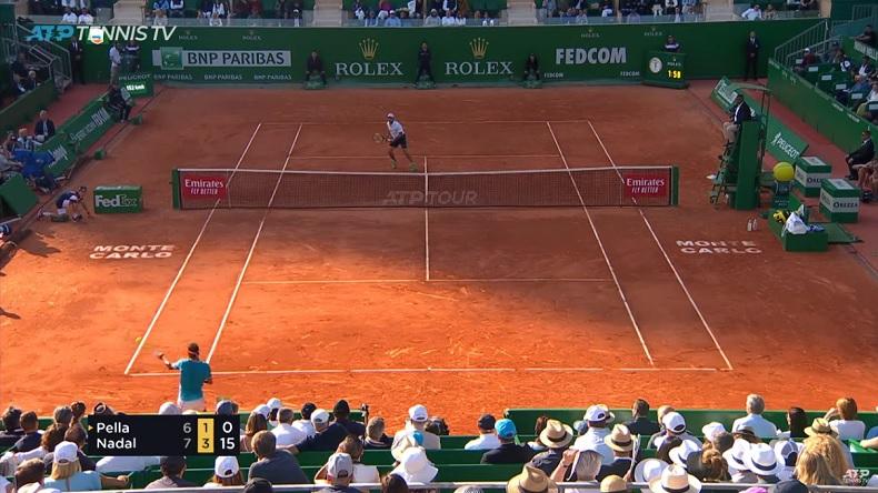 Ce contre en coup droit de Rafa Nadal à Monte-Carlo est monumental.