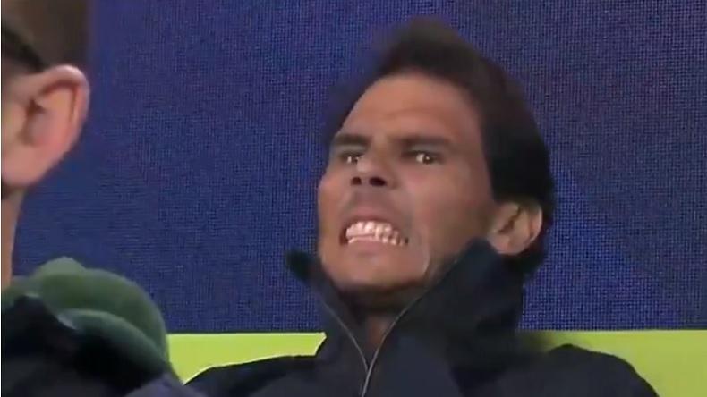 Rafa Nadal passe par tous les états quand il regarde un match de l'Espagne à l'ATP Cup sans jouer.