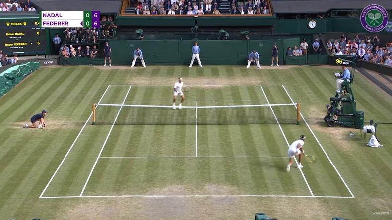 Les meilleurs points de Rafael Nadal à Wimbledon 2019.