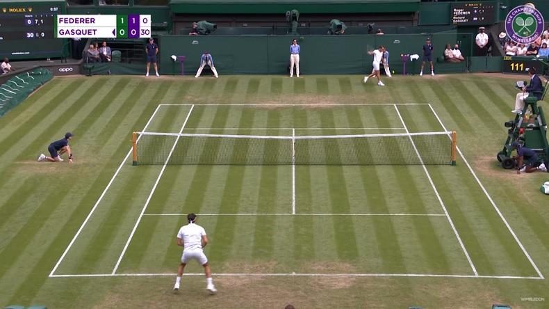 Richard Gasquet inscrit un point sublime sur un bijou de revers contre Roger Federer à Wimbledon 2021.