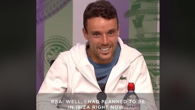 Roberto Bautista Agut doit annuler son EVG à Ibiza car il est en demi-finales à Wimbledon.
